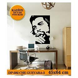 Kadife Duvar Sticker Che Guevara-3 (Siyah) - 45,8X64 Cm