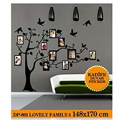 Kadife Duvar Sticker Lovely Family-1 148X170 Cm