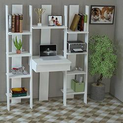 Just Home Alexa Çalışma Masası - Beyaz