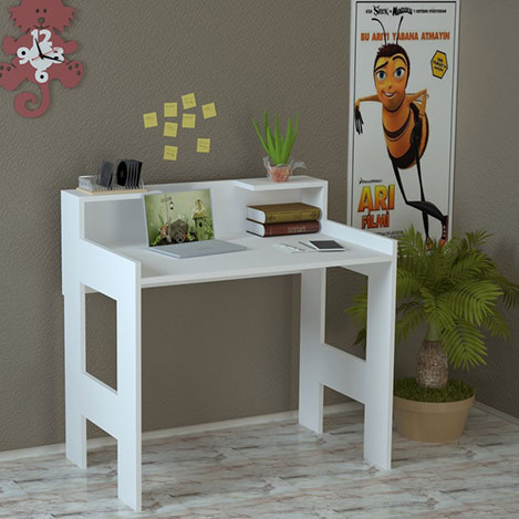 Just Home Palmira Çalışma Masası - Beyaz