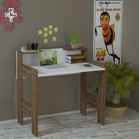 Just Home Palmira Çalışma Masası - Beyaz / Ceviz
