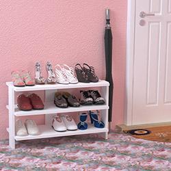 Just Home Alina 3 Raflı Ayakkabılık (75 cm) - Beyaz