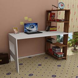Just Home Magnum Çalışma Masası - Ceviz / Beyaz