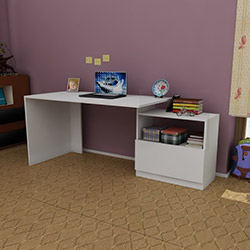 Just Home Petranella Çalışma Masası - Beyaz