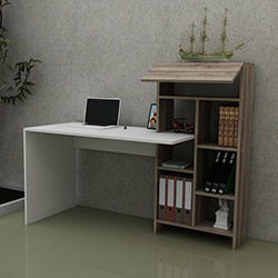Just Home Agora Çalışma Masası - Beyaz / Sakramento