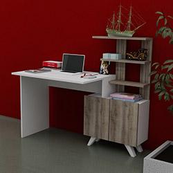 Just Home Allegro Çalışma Masası - Beyaz / Sakramento