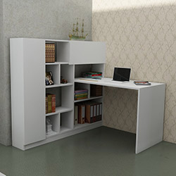 Just Home Aragon Çalışma Masası - Beyaz