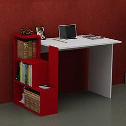 Just Home Bildo Çalışma Masası - Beyaz / Kırmızı