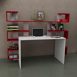 Just Home Linda Çalışma Masası - Beyaz / Kırmızı