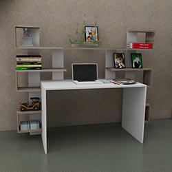 Just Home Linda Çalışma Masası - Beyaz / Sakramento