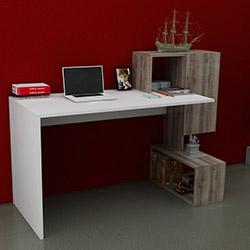 Just Home Marsilya Çalışma Masası - Beyaz / Sakramento