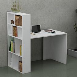 Just Home Pironi Çalışma Masası - Beyaz