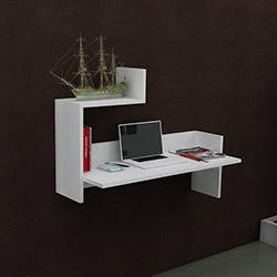 Just Home Tina Çalışma Masası - Beyaz