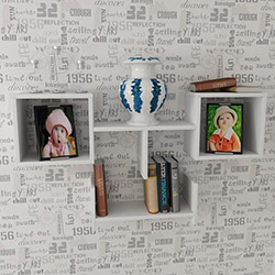 Just Home Visage Duvar Rafı - Beyaz