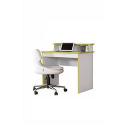 Alpino Garden Bilgisayar Masası - Beyaz / Verde