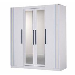 Alpino Monza Yatak Odası 4 Kapaklı Gardırop - Beyaz