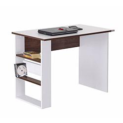 Alpino Maçkay Genç Odası Bilgisayar Masası - Beyaz / Metalik Ceviz