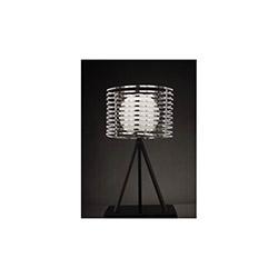 Helin Tekli Dekoratif Cam ve Çerçeveli Modern Masa Lambası - Beyaz