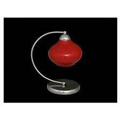 Elma Tekli Dekoratif Kırmızı Camlı Modern Masa Lambası - Kırmızı