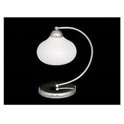 Elma Tekli Dekoratif Beyaz Camlı Modern Masa Lambası - Beyaz