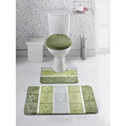 Sesli 3'lü Banyo Klozet Takımı - Yeşil