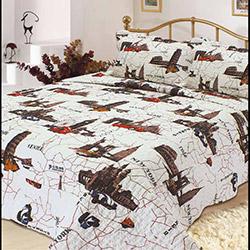 Evlen Emprime (London) Desenli Çocuk Yatak Örtüsü