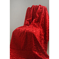 Special Home Tay Tüyü Koltuk Örtüsü - Kırmızı