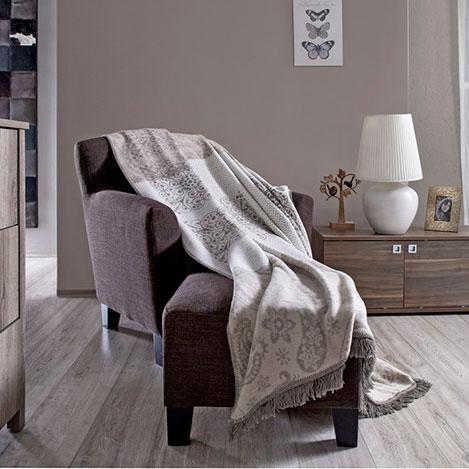 Dekoreko Tria Carpet Pamuklu Tek kişilik Battaniye