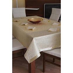 Dekoreko Special Leke Tutmaz Masa Örtüsü (Gold) - 160x220 cm