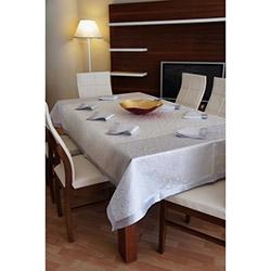 Dekoreko Special Leke Tutmaz Masa Örtüsü (Gümüş) - 160x220 cm