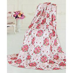 Dekoreko Rose Tay Tüyü Koltuk Örtüsü - Kırmızı