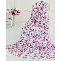 Dekoreko Rose Tay Tüyü Koltuk Örtüsü - Lila