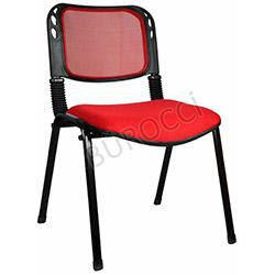 Bürocci Fileli Form Sandalye - Kırmızı