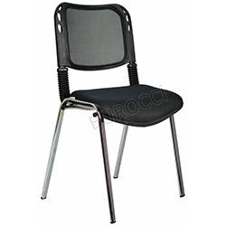 Bürocci Fileli Kromajlı Form Sandalye - Siyah