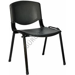 Bürocci Plastik Form Sandalye - Siyah