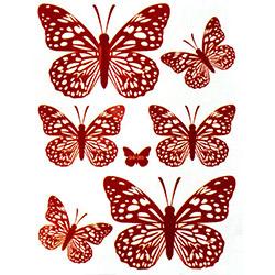 Secret Kelebek 3D Sticker - Kırmızı
