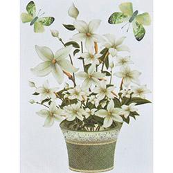 Secret Bahar Çiçekleri 3D Sticker - 60x35 cm