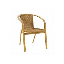 Anka Bambu Yassı Boru Sandalye - Saman