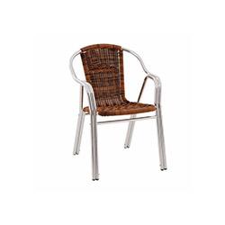 Alüminyum Rattan Telsiz Sandalye - Kahve