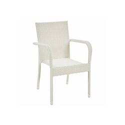 Flora Rattan Sandalye - Beyaz