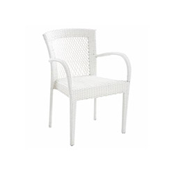 Petra Rattan Kollu Sandalye - Beyaz