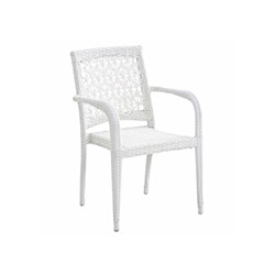 Lotus Rattan Sandalye - Beyaz
