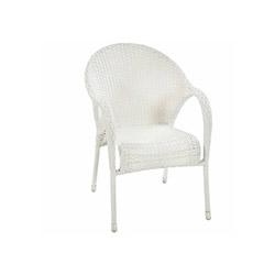 Luna Rattan Sandalye - Beyaz