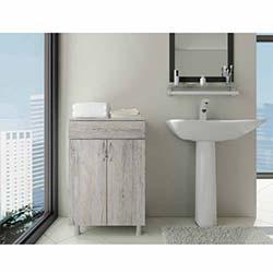 Açelya 1 Çekmece 2 Kapaklı Banyo Dolabı - 0113