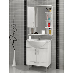 Comfy Home AU-4020 Banyo Dolabı - Beyaz