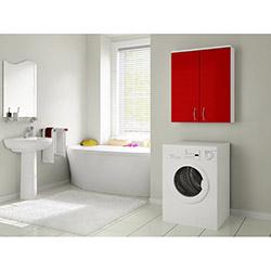 Bestline Mine Çamaşır Makinesi Üst Dolabı - Kırmızı