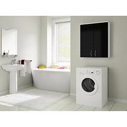 Bestline Mine Çamaşır Makinesi Üst Dolabı - Siyah