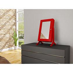 Bestline Aynalı Mini Takı ve Aksesuar Dolabı - Kırmızı