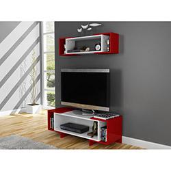 Bestline Star Tv Sehpası ve Duvar Rafı - Kırmızı / Beyaz