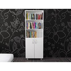 Luxxe Home Hilal 2 Kapaklı Kitaplık - Beyaz